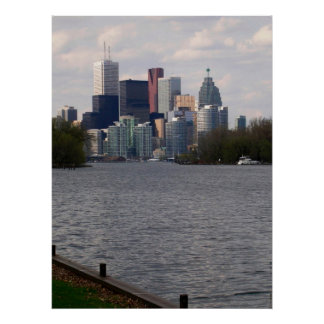 Toronto Water Front Skyline  n Financial District Print