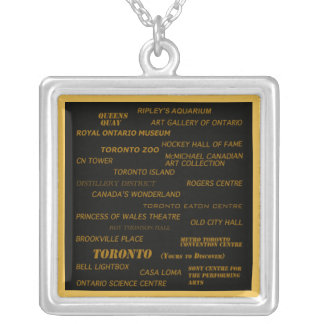 Toronto yours to discover square pendant necklace