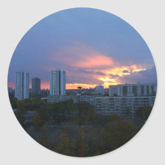 Toronto's Sunset Classic Round Sticker