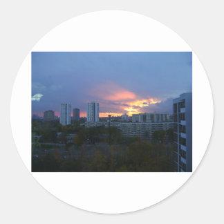 Toronto's Sunset Round Stickers
