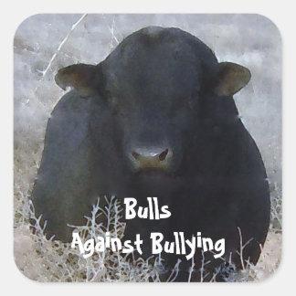 Toros contra - BB - el Parenting del vaquero que Pegatina Cuadrada