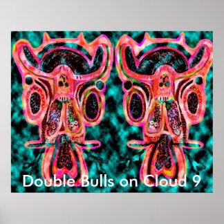 Toros dobles en la nube 9 - poster del fiesta