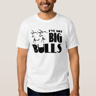 Toros grandes - granjero divertido playeras