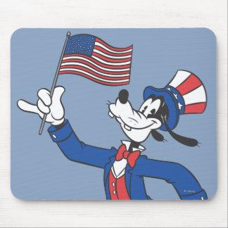 Torpe patriótico tapete de ratón