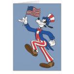 Torpe patriótico tarjeta de felicitación