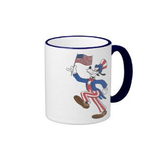 Torpe patriótico taza de dos colores
