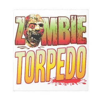 Torpedo Zombie Head Note Pads