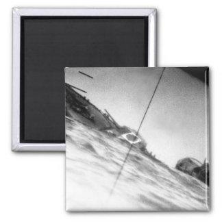 Torpedoed Japanese destroyer _War Image Magnet