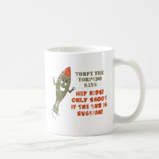 Torpy the Torpedo - Retro Classic White Coffee Mug