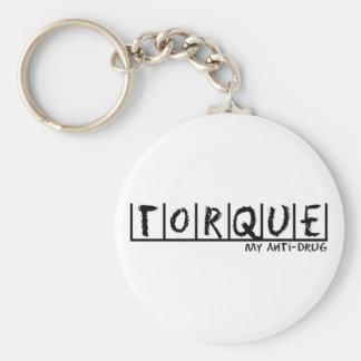 Torque Anti-Drug Basic Round Button Keychain