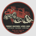 Torque Brothers TB018A Round Stickers