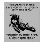 Torque Hole Dirt Bike Motocross Poster Sign Funny