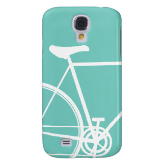 Torquoise Abstract Bicycle Samsung Galaxy Samsung Galaxy S4 Cover