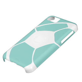 Torquoise Abstract Soccer iPhone 5 Case