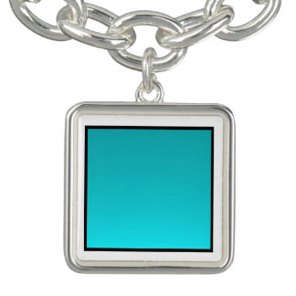 Torquoise Charm >Silver Charm Bracelet