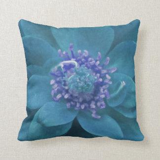 Torquoise Petal Mandala Throw Pillow