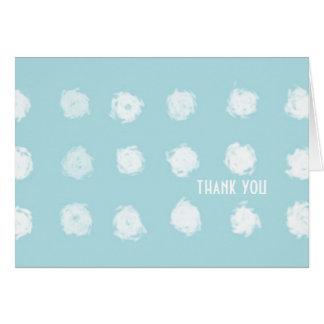 Torquoise Polka Dot Greeting Card