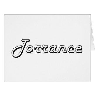 Torrance California Classic Retro Design Large Greeting Card