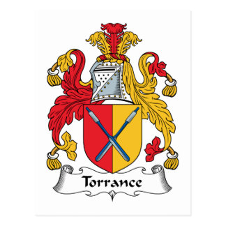 Torrance Family Crest Postcard