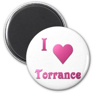 Torrance -- Hot Pink 2 Inch Round Magnet