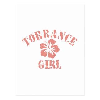 Torrance Pink Girl Postcard