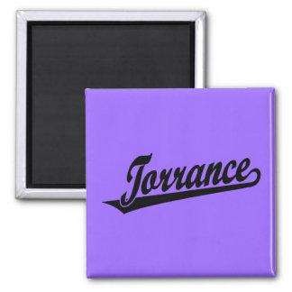 Torrance script logo in black 2 inch square magnet