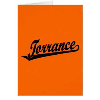 Torrance script logo in black greeting card