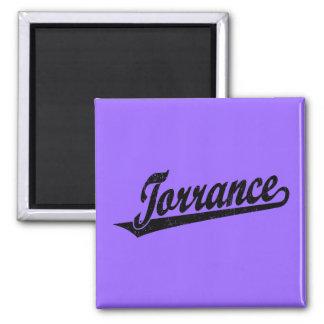Torrance script logo in black distressed 2 inch square magnet