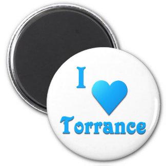 Torrance -- Sky Blue 2 Inch Round Magnet
