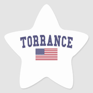 Torrance US Flag Star Sticker