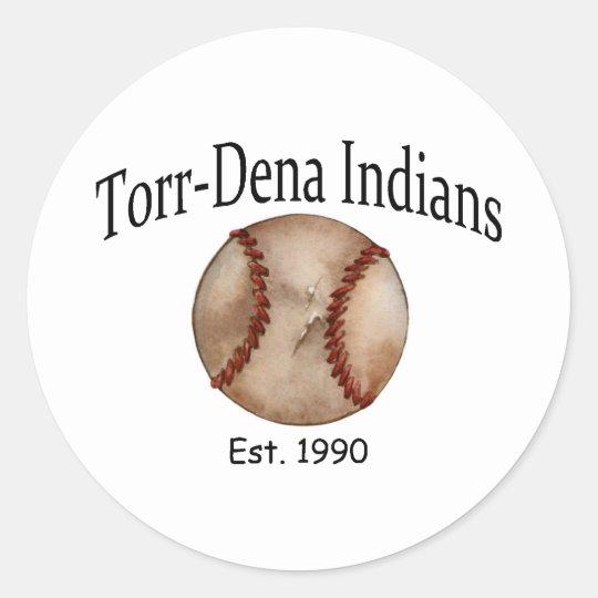 TorrDena Indians Est 1990 Classic Round Sticker