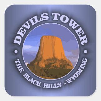 Torre 3 de los diablos pegatina cuadrada