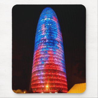 Torre Agbar at night, Barcelona Mousepads