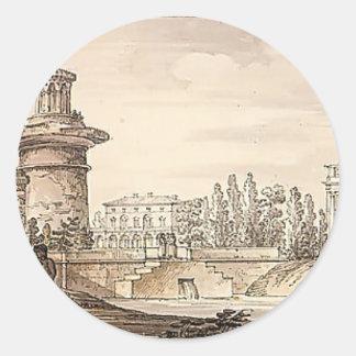 Torre arruinada, puerta de Orlovsky de Giacomo Etiquetas Redondas