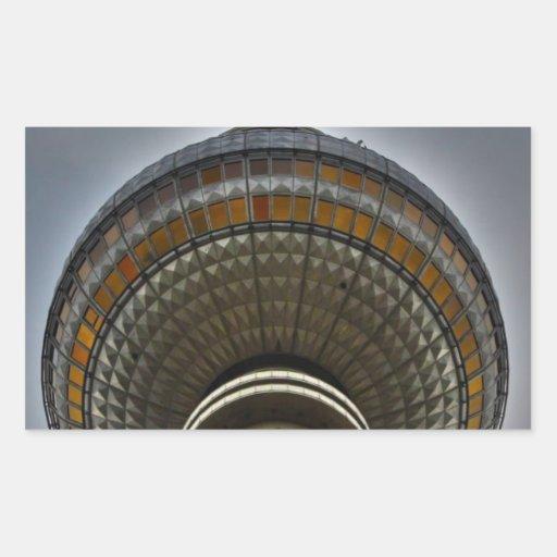 Torre Berlín de la TV Pegatina Rectangular