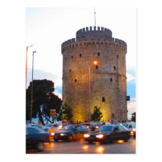 Torre blanca, postal de Salónica, Grecia