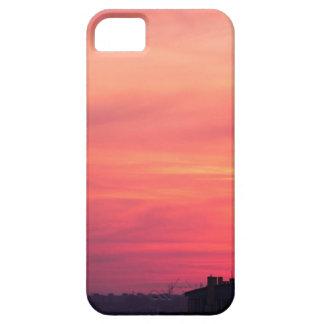 Torre celular en la puesta del sol iPhone 5 carcasa