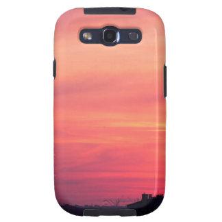 Torre celular en la puesta del sol galaxy SIII coberturas