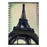 Torre-Color de Eiffel Tarjetas