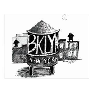 Torre de agua de Brooklyn Tarjetas Postales