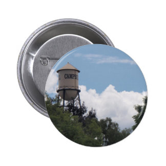 Torre de agua de Campbell, California Pin Redondo De 2 Pulgadas