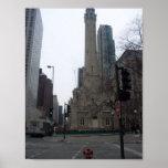 Torre de agua de Chicago Poster