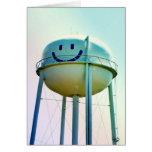 Torre de agua de la cara de la sonrisa, Elroy, TX Felicitación
