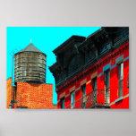 Torre de agua de New York City por Urban59 Poster