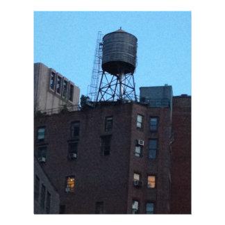 Torre de agua de NYC Plantillas De Membrete