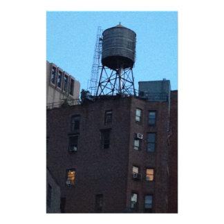 Torre de agua de NYC Papelería Personalizada