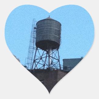 Torre de agua de NYC Calcomanía Corazón