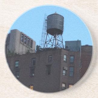 Torre de agua de NYC Posavasos Cerveza