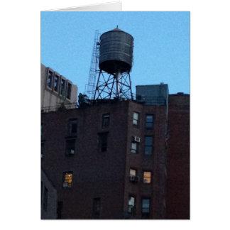 Torre de agua de NYC Tarjetas
