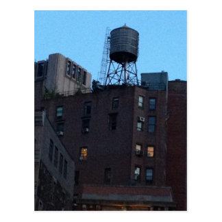 Torre de agua de NYC Tarjetas Postales
